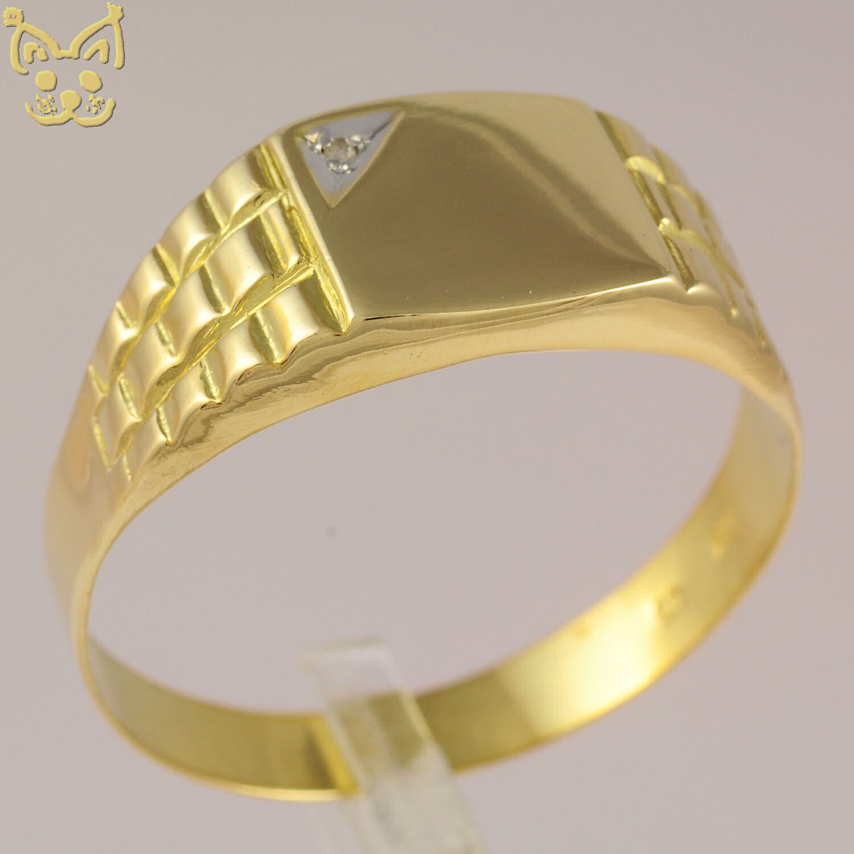 diamant herrenring herren ring 333 8k gold gelbgold hanse. Black Bedroom Furniture Sets. Home Design Ideas