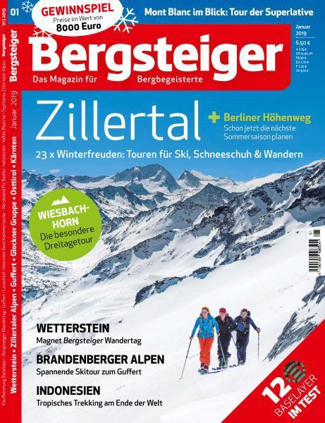 Bergsteiger Das Tourenmagazin Januar No 01 2019