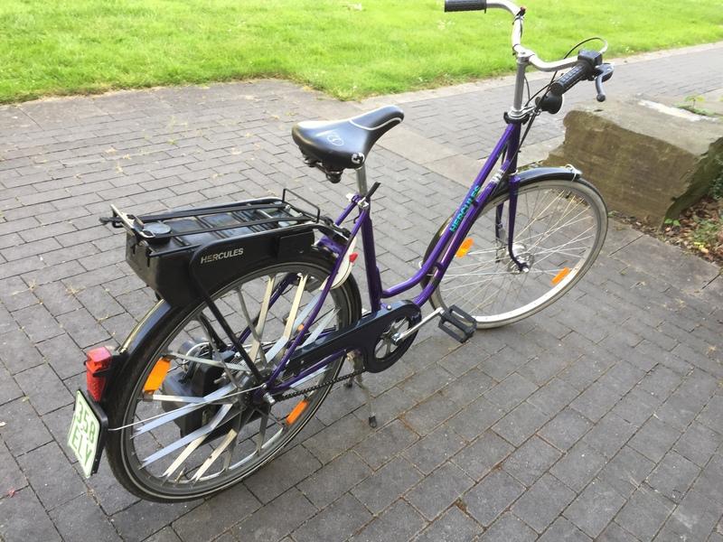 hercules saxonette fahrrad mit e starter hilfsmotor. Black Bedroom Furniture Sets. Home Design Ideas