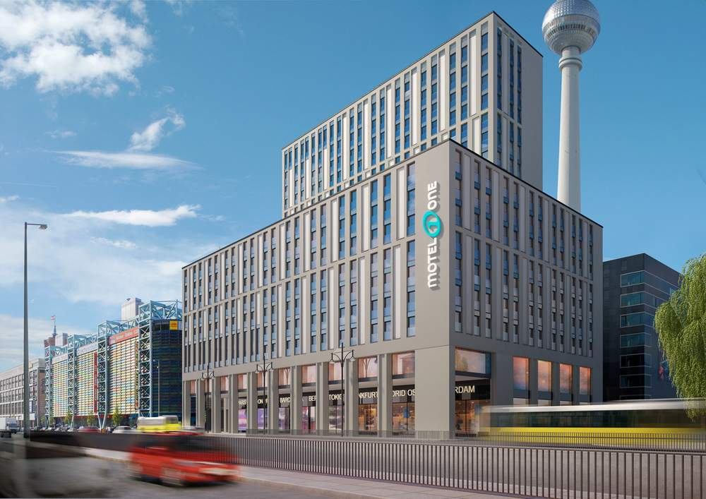 Hochhauswelten Berlin Motel One Grunerstraße 60m