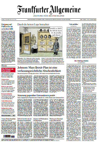 Frankfurter Allgemeine 18 September 2018