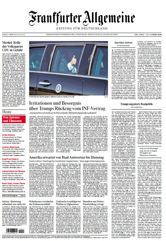 Frankfurter Allgemeine 22 Oktober 2018