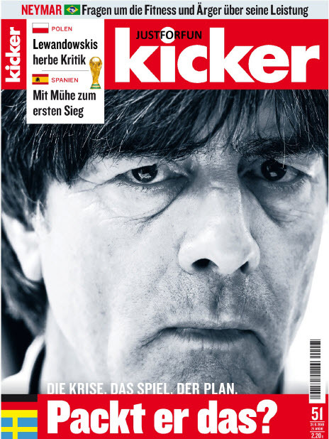 Kicker Sportmagazin No 51 vom 21 Juni 2018