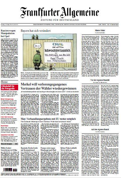 Frankfurter Allgemeine 16 Oktober 2018