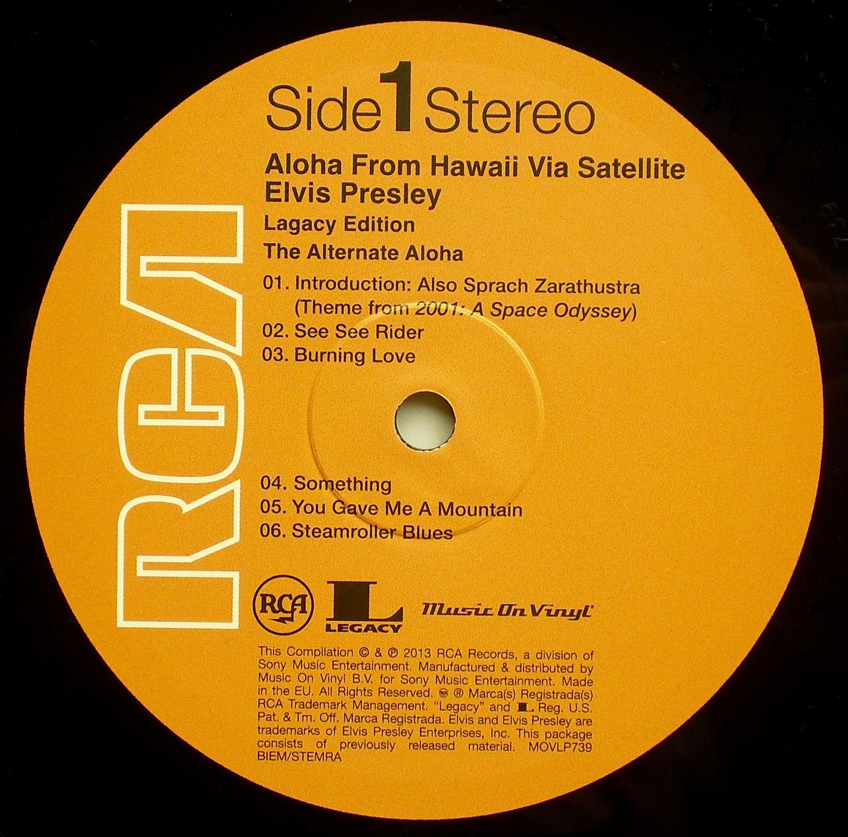Hawaii - ALOHA FROM HAWAII VIA SATELLITE 07s550dsj