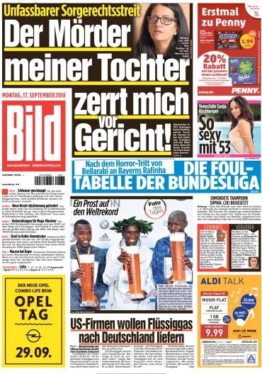 Bild Zeitung 17 September 2018