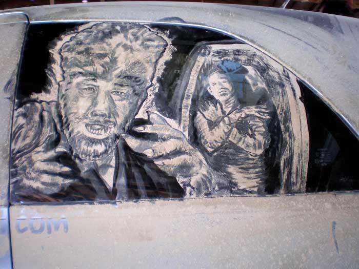 Obrazy na brudnych samochodach 29