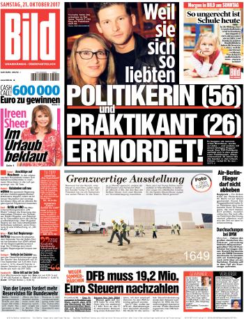 Bild Zeitung 21 Oktober 2017