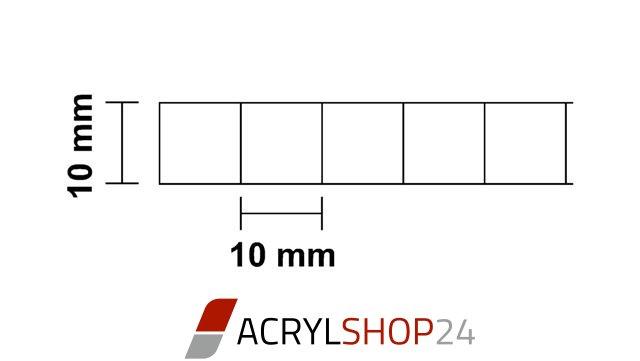 polycarbonat pc stegplatten doppelstegplatten 10mm klar. Black Bedroom Furniture Sets. Home Design Ideas