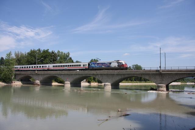 101 070-1 Die Adler Mannheim Salzburg Saalachbrücke