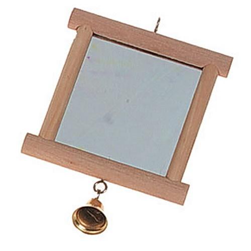 Vogelspielzeug spiegel glocke zum aufh ngen holzspiegel - Schweren spiegel aufhangen ...