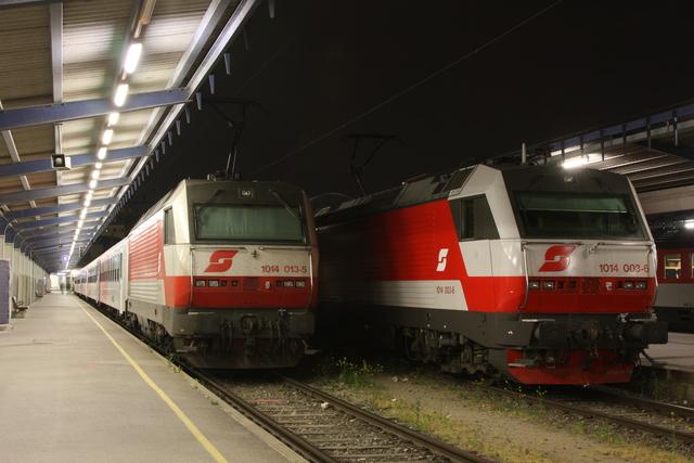 1014 013-5 + 1014 003-6 Wien Südbahnhof
