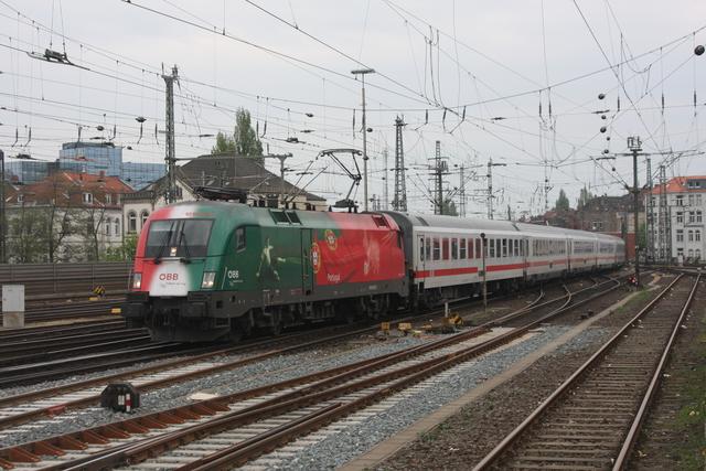 1016 025-7 Einfahrt Hannover Hbf