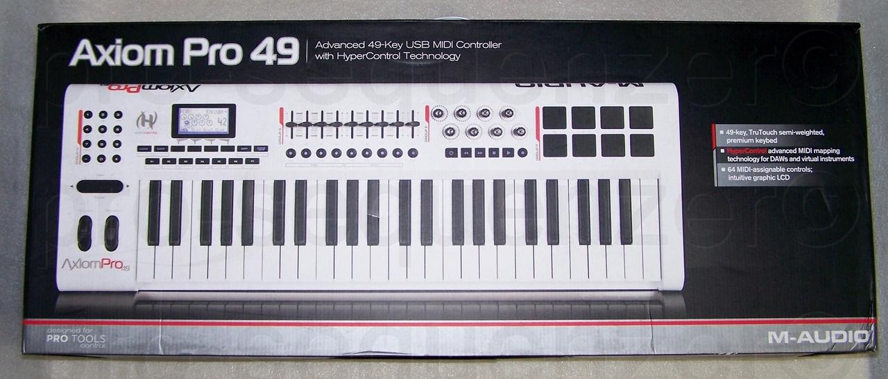 M Audio Axiom Pro 49 USB MIDI Controller Keyboard OVP Vom Fachmann eBay