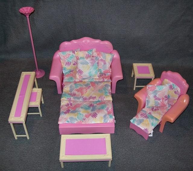 Barbie wohnzimmer sweet roses wohnwelt living pretty pink magic 80er 90er jahre - Barbie wohnzimmer ...