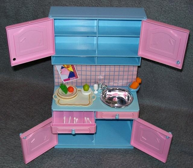 badezimmer k che f r petra barbie vintage k hlschrank badewanne 80er 90er jahre ebay. Black Bedroom Furniture Sets. Home Design Ideas