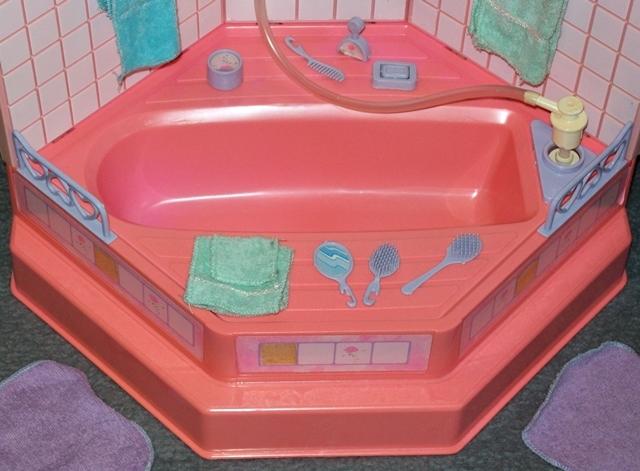 Barbie badewanne zubeh r dusche badezimmer sweet roses for Badezimmer 80er jahre
