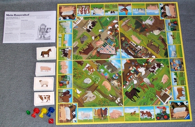 mein bauernhof ravensburger 1984 80er 90er jahre spiel brettspiel kinderspiel 2 ebay. Black Bedroom Furniture Sets. Home Design Ideas