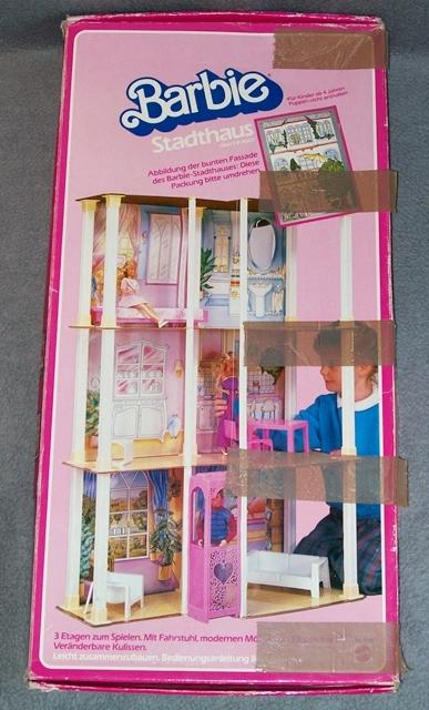 barbie stadthaus mit aufzug haus mattel 80er jahre villa vintage mit ovp ebay. Black Bedroom Furniture Sets. Home Design Ideas