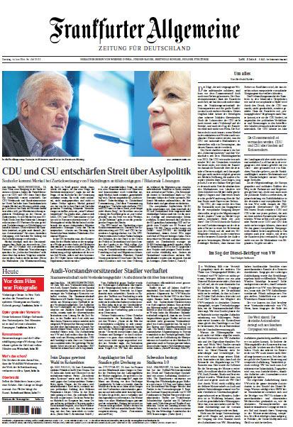 Frankfurter Allgemeine 19 Juni 2018