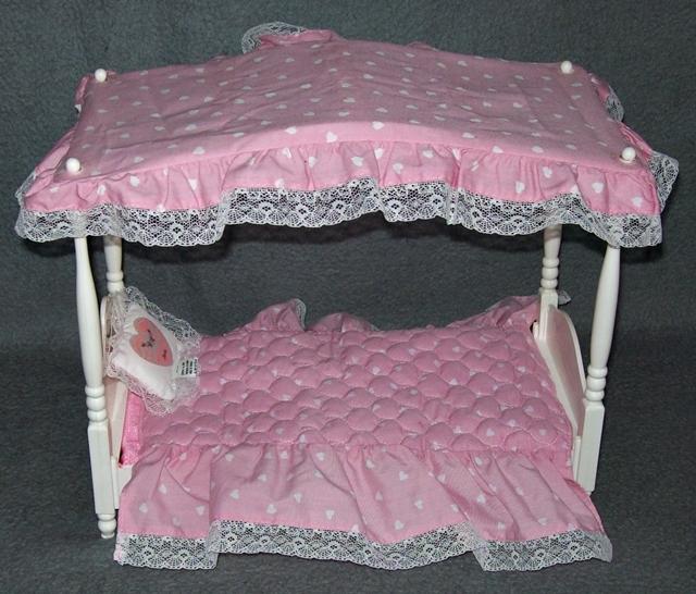 barbie bett schlafzimmer mattel himmelbett bettwäsche vintage 80er,
