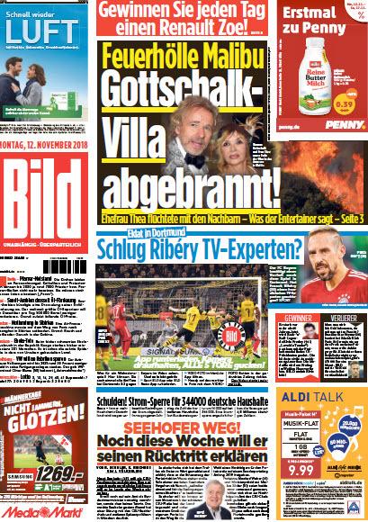 Bild Zeitung 12 November 2018