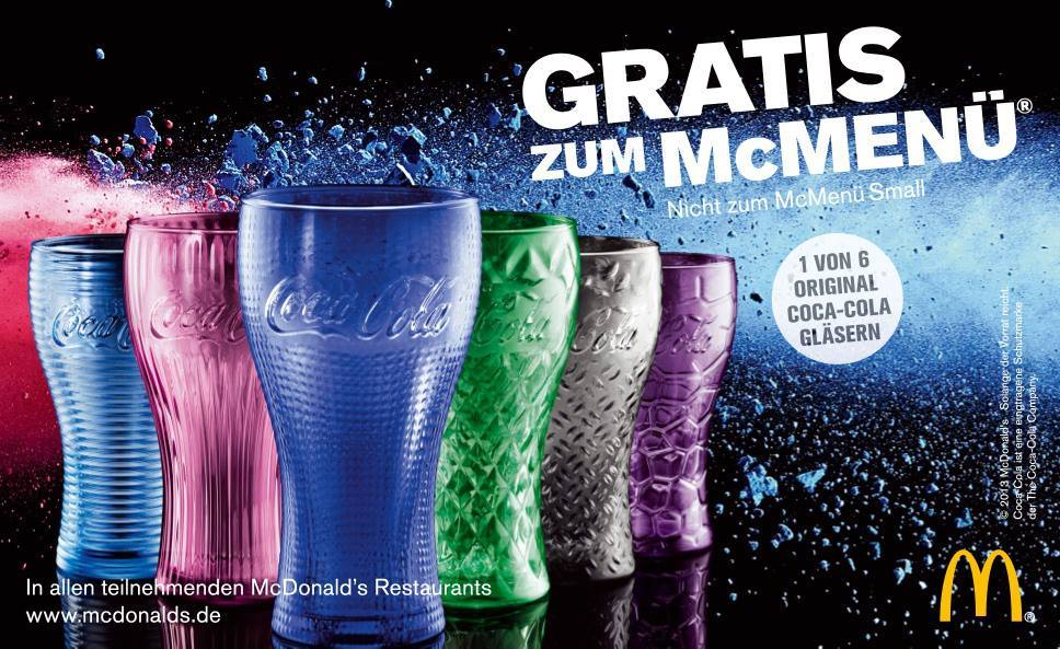 deutschlandweit coca cola glas gratis zu jedem mcmen. Black Bedroom Furniture Sets. Home Design Ideas