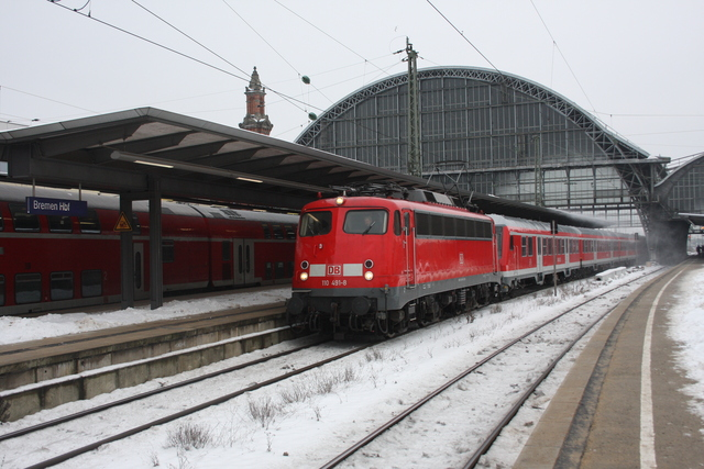 110 491-8 als D 2803 in Bremen
