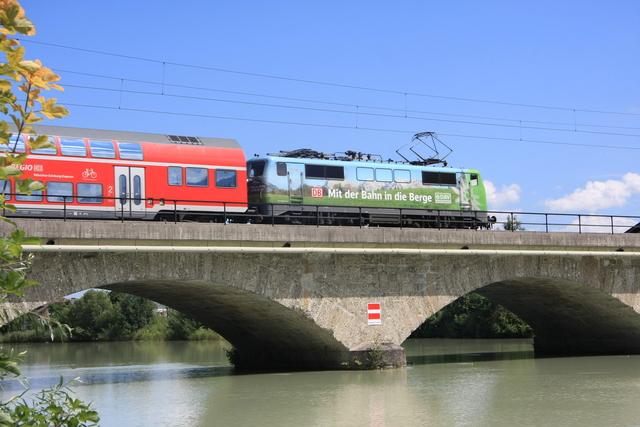 111 039-4 Deutscher Alpenverein Freilassing Saalach-Brücke