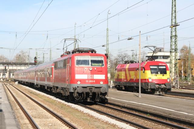 111 053-5 + 1116 232-8 EM-Lok Spanien Freilassing