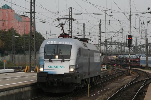 1116 038-9 Siemens Solo Ausfahrt München Hbf