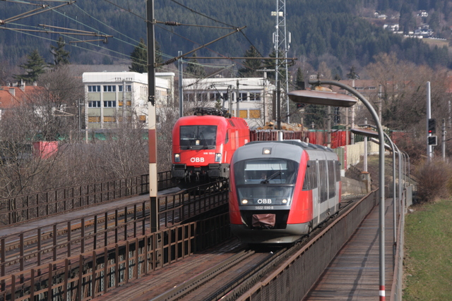 1116 120-5 + 5022 030-8 Villach Draubrücke