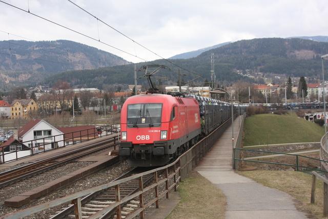 1116 260-9 Lokfüherschein Villach Draubrücke
