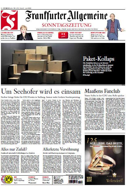 Frankfurter Allgemeine Sonntags Zeitung 11 November 2018
