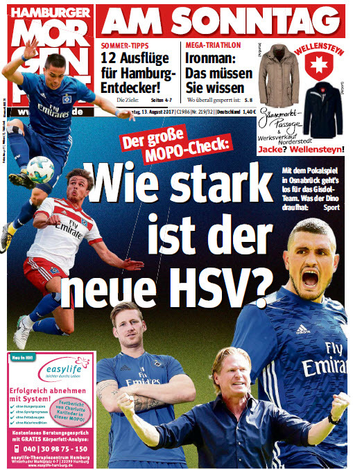 Hamburger  Morgenpost 13 August 2017