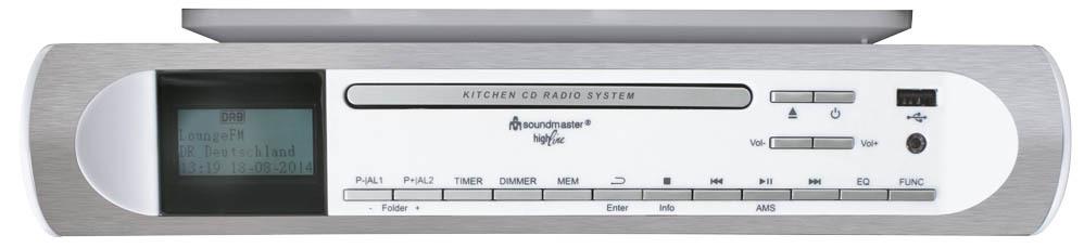 soundmaster ur2170 unterbauradio k chenradio cd mp3 dab. Black Bedroom Furniture Sets. Home Design Ideas