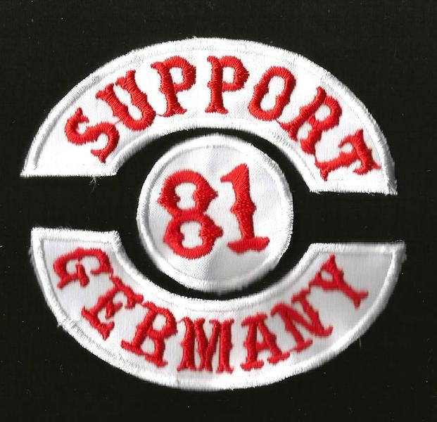 support 81 hells angel patch bage big machine germany ebay. Black Bedroom Furniture Sets. Home Design Ideas