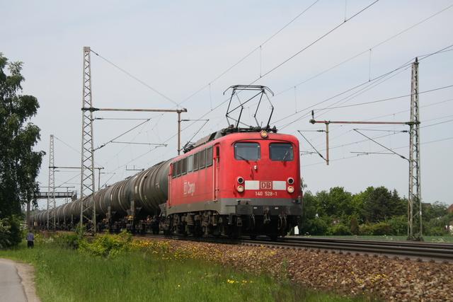 140 528-1 DB Cargo Gümmer Sportplatz