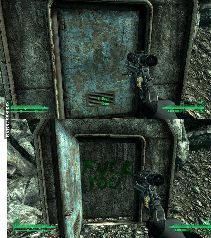 Fallout 3 does it again. . This legitimately happened to me while I.was pl