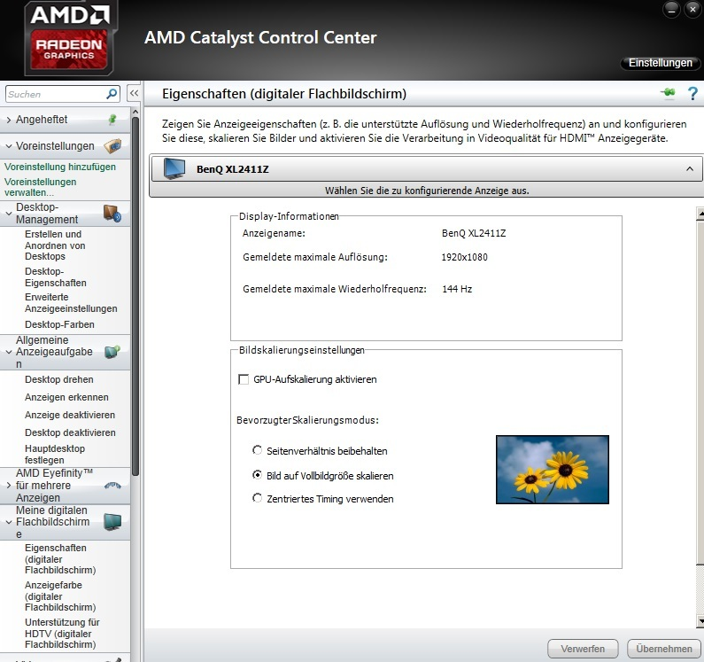 how to change refresh rate amd catalyst