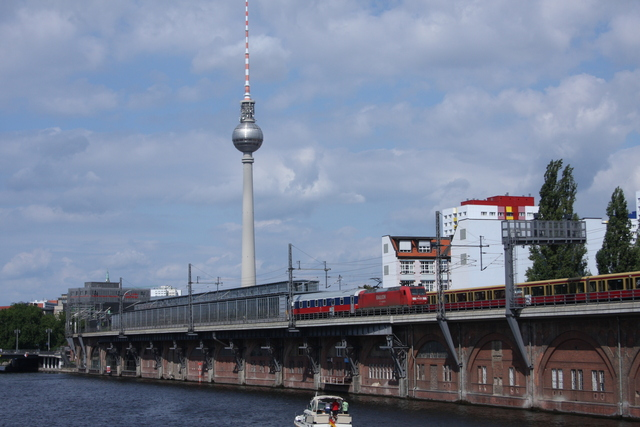 145 015-4 Railion DB Logsitics Berlin-Michealsbrücke