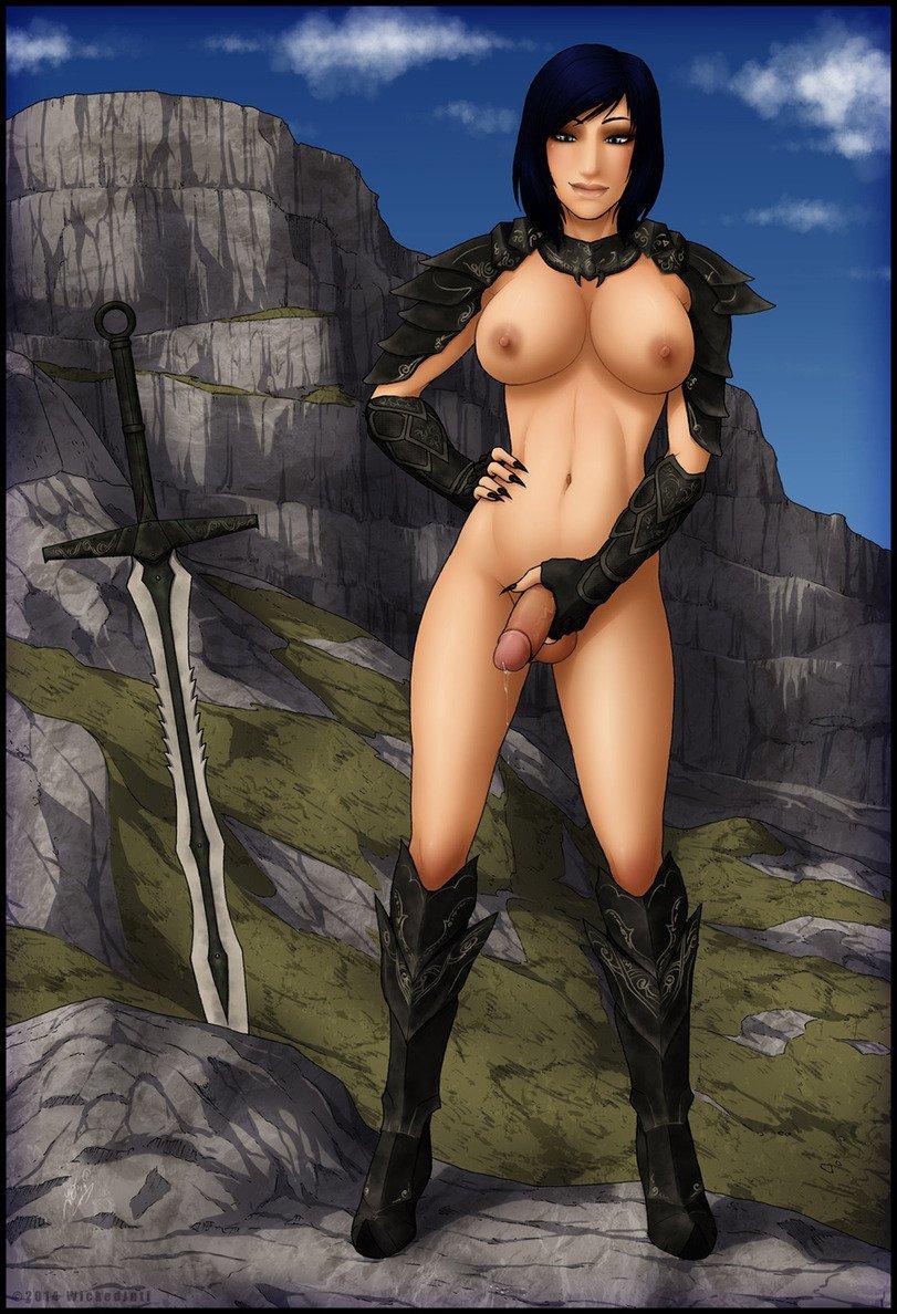 Naked skyrim futanari sexy comics