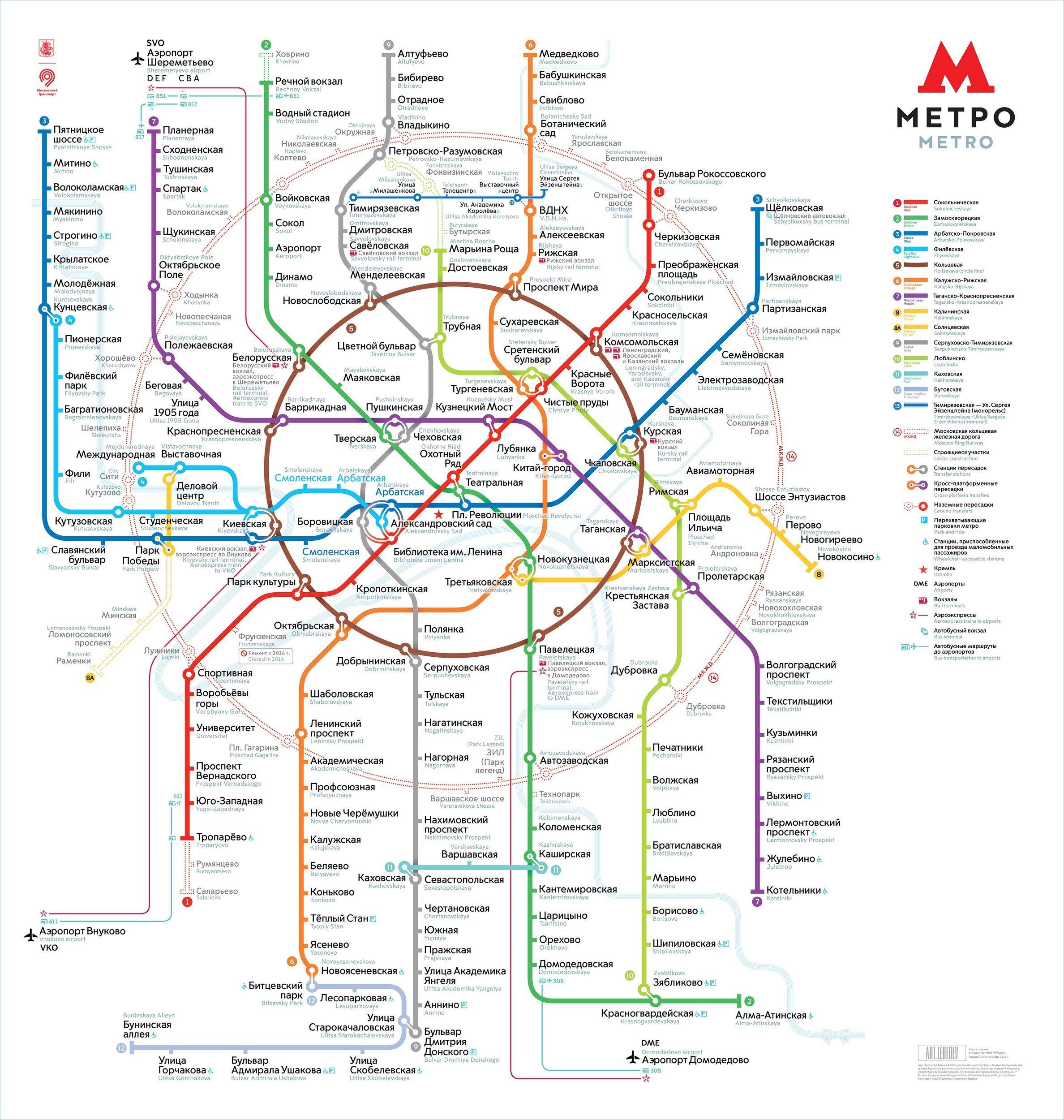 Схема метро трубная площадь