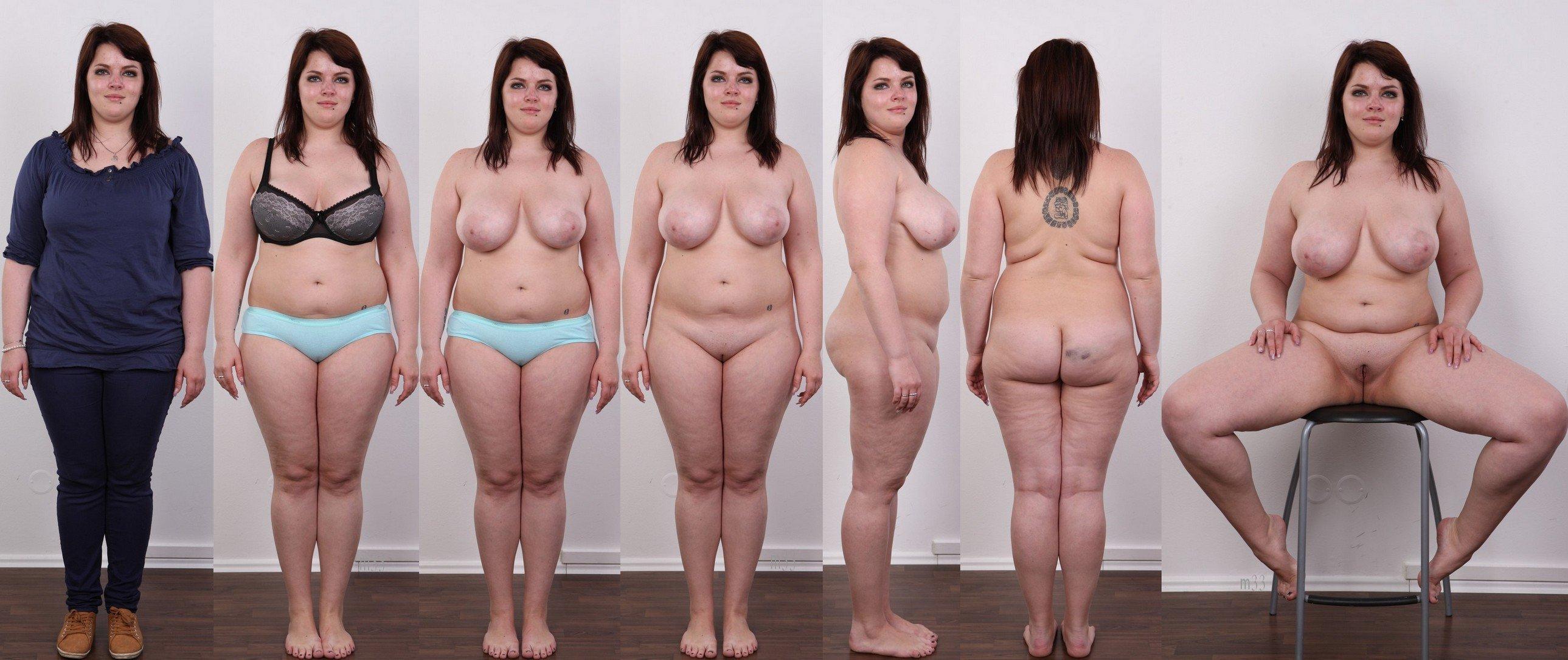 На кастинге толстая