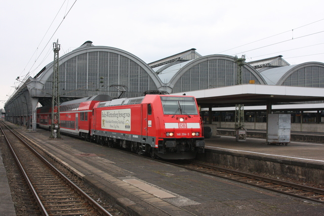 146 204-3 Ausfahrt Karlsruhe Hbf