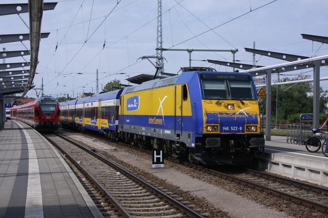 146 522-8 Einfahrt Rostock Hbf