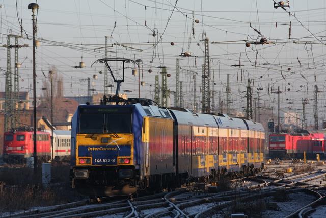 146 522-8 InterConnex Ausfahrt Leipzig