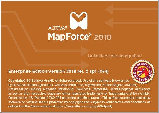 : Altova MapForce Enterprise 2018 20.2.1 R2 Sp1 (x64)