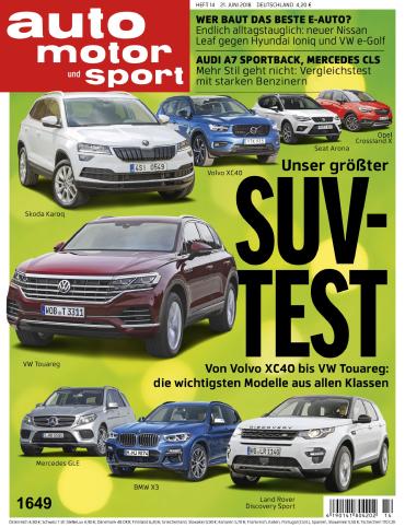 Auto Motor und Sport Magazin Juni No 14 2018