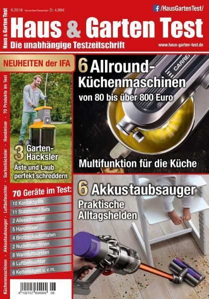 Haus und Garten Test Verbrauchermagazin November-Dezember No 06 2018